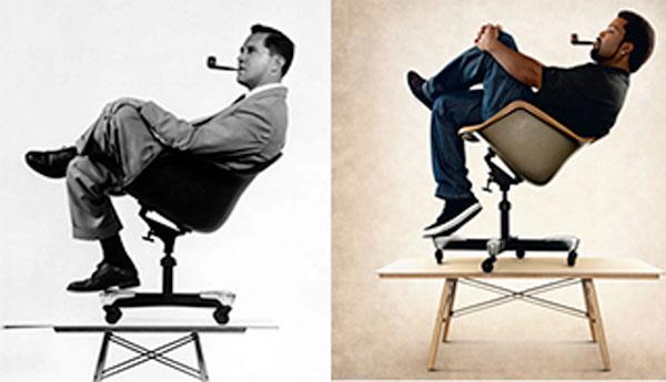 Eames-chair-design-art-rapper-Ice-Cube-